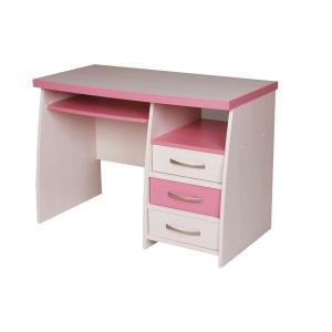 PC stůl C60 Creme - růžová