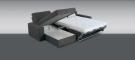 Sedací souprava GKT NINA 3F-OT s úložným prostorem - rozložená