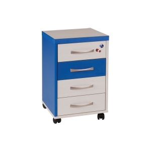 PC stůl C54 kontejner Creme - modrá